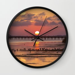 Sunset in Corolla Wall Clock