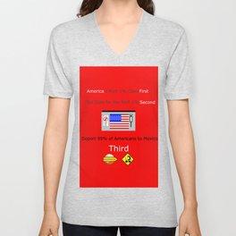 America FIrst Unisex V-Neck