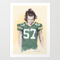 packers Art Prints featuring Harry is Packers AF by Coconut Wishes