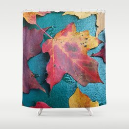 WithrowLeaves Shower Curtain
