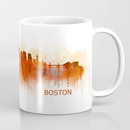 Boston City Skyline Hq V3 Massachusetts Coffee Mug