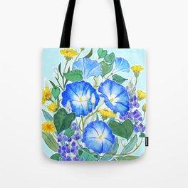Morning Glory Ikebana Tote Bag