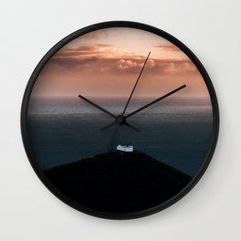 Lonely House by the Sea during Sunset - Landscape Photography Wall Clock