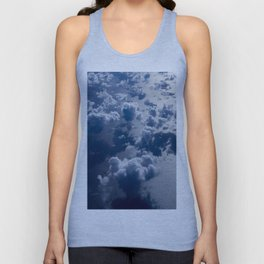 High Altitude Clouds Over Ocean Blue Fluffy Clouds Unisex Tank Top