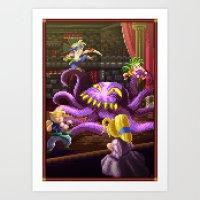 Pixel Art series 3 : Octopus Art Print