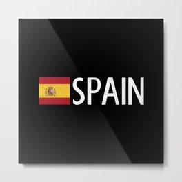 Spain: Spanish Flag & Spain Metal Print