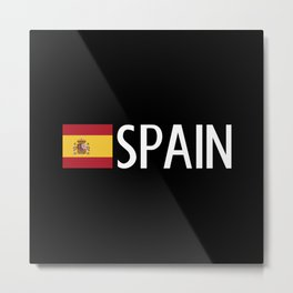 Spain: Spanish Flag & Spain Metal Print