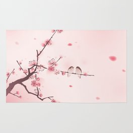Oriental cherry blossom in spring 005 Rug