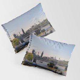 London Eye Houses of Parliament England Pillow Sham