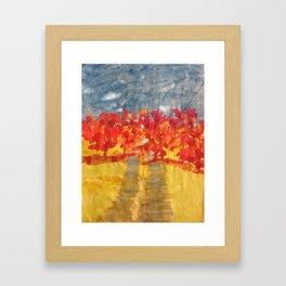 Flowery Road Framed Art Print