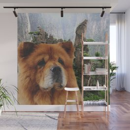 Dog Chow Chow Wall Mural