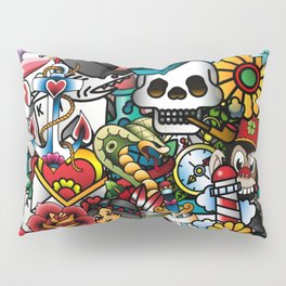 Tattoo Collage Pillow Sham