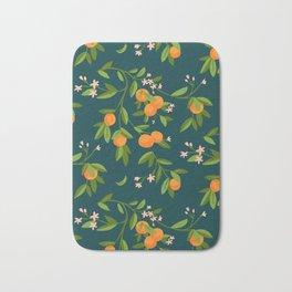 Citrus Tree - Navy Bath Mat