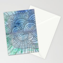 Water & Color Drawing Meditation Stationery Cards