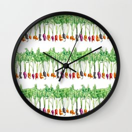 Funky Vegetables Wall Clock