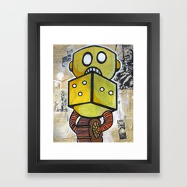 Dice Bot Framed Art Print