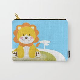 Lion in the savannah Carry-All Pouch