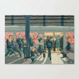 Hey Superhero! Canvas Print