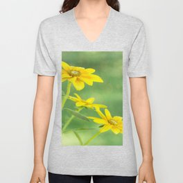 Summer Time With Yellow Daisies Unisex V-Neck