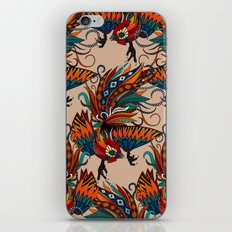 rooster ink beige iPhone & iPod Skin