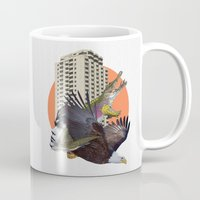 cage Mugs featuring Cage home by Lerson
