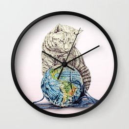 In which our feline deity shows restraint  Wall Clock