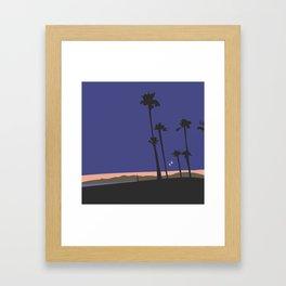 The Beach at Night Framed Art Print