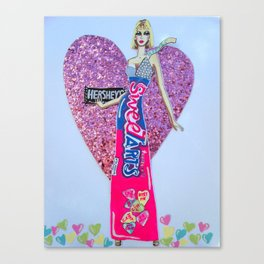 Sweettarts For My Sweetheart - Bright Colors Canvas Print