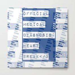 HEART</3BREAK blue Metal Print