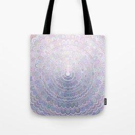 Pale Flower Mandala Tote Bag