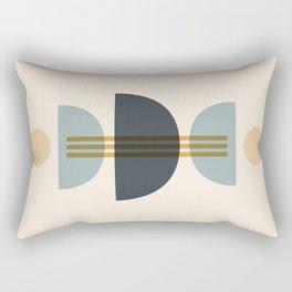 Sapphire Abstract Half Moon 1 Rectangular Pillow
