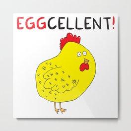 Eggcellent Metal Print