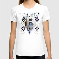 korea T-shirts featuring bitcoin south korea by seb mcnulty