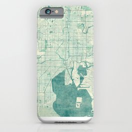 Tampa Map Blue Vintage iPhone Case