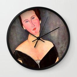 "Amedeo Modigliani ""Portrait of Madame Georges Van Muyden.jpg Wall Clock"