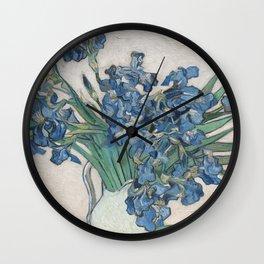 Vincent van Gogh Irises Floral Purple Wall Clock