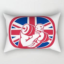 British Gym Circuit Union Jack Flag Icon Rectangular Pillow