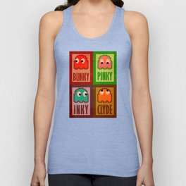 Inky, Pinky, Blinky and Clyde Unisex Tank Top