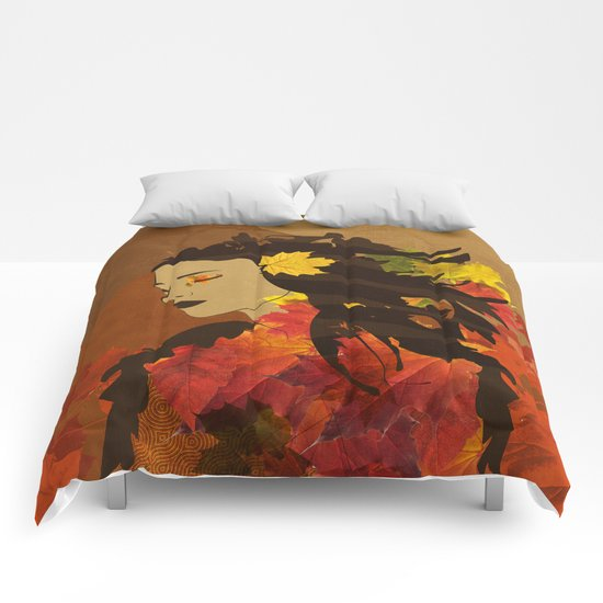 Portrait in Autumn... Comforters