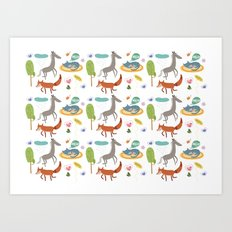Happy animals Art Print