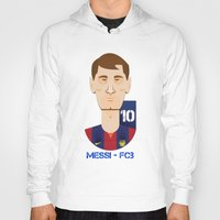 messi Hoodies featuring Messi Barcelona by Sport_Designs