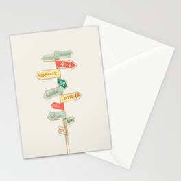 Happiness is everywhere Stationery Cards