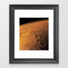 Mars Atmosphere Framed Art Print
