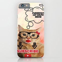 Purrrfect Cat Selfie iPhone Case