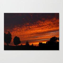 Castle Sunset Canvas Print