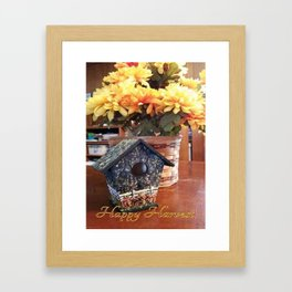 """ Happy Harvest Mums "" Framed Art Print"