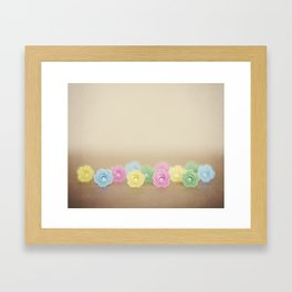 Plastic Flowers 2 Framed Art Print