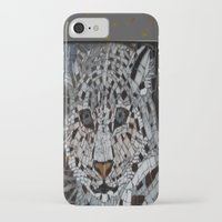 snow leopard iPhone & iPod Cases featuring Snow Leopard by ira gora