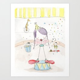 Step Right Up - Confetti Clown Art Print