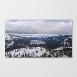Snowy Horizon Canvas Print
